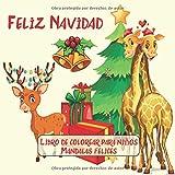 Feliz Navidad - Libro de colorear para niños - Mandalas felices (¡Feliz año nuevo 2020!)