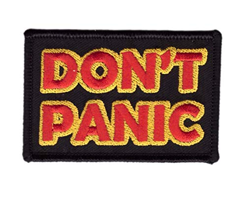 Titan One Europe - Don´t Panic Hitchhiker Galaxy Keine Panik Patch Aufnäher Aufbügler