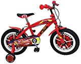 STAMP SAS Cars Bike 14' Bush + Nylon Rims + Caliper Brakes, Niños, Red, 4-6