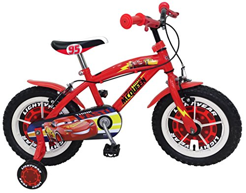 STAMP SAS Cars Bike 14' Bush + Nylon Rims + Caliper Brakes, Color Red, 4-6 (Stamps SAS C893020NBA)