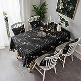 Mantel de algodón y Lino con patrón de mármol, Mantel para Mesa de Centro, Mantel para Muebles de Cocina, paño para Cubierta Antipolvo F140x220cm