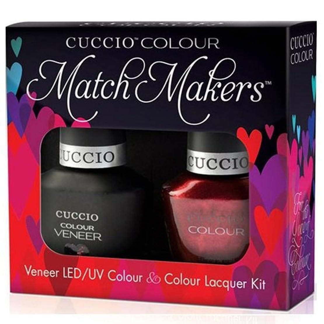 テザー申請者ギャングスターCuccio MatchMakers Veneer & Lacquer - Hearts of Fire - 0.43oz / 13ml Each