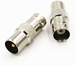 BNC Female Jack to IEC PAL DVB-T TV Male Plug RF Adapter Connector Quick USA Shipping