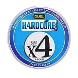 DUEL(デュエル) HARDOCORE(ハードコア) PEライン 1.0号 HARDCORE X4 200m 1.0号 マーキングシステム/10m×5色 H3247