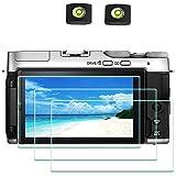 X-T200 Screen Protector for Fujifilm X-T200 X-A7 Fuji XT200 XA7 Digital Camera & Hot Shoe Cover, ULBTER 0.3mm 9H Hardness Tempered Glass Saver Anti-Scrach Anti-Fingerprint Anti-Bubble [3Pack]