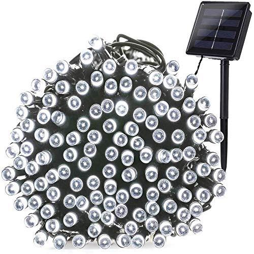 ZBM-ZBM Waterdichte buitenverlichting op zonne-energie, tuin-snoer, 8 modi, 22 m, 200 leds, kerstfeest, bruiloft, yard, gazon, starry, tuindecoratie, lichtsnoer