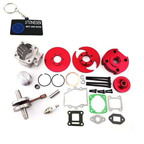 Stoneder, kit cilindro a grande alesaggio, rosso, 44mm, per motore 2tempi, 47cc e 49cc, minimoto cinesi, moto da cross ATV, quad a quattro ruote