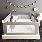 Extra Long Bed Rails for Toddlers, Folding Bed Safety Rail for Baby, Crib Guardrail for Kids with Dual Lock (70' - 1 Side only)