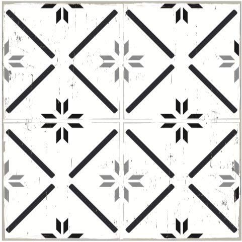 Siena Peel and Stick 13x13 Fliesenaufkleber für Böden, auch Wände, Fliesenspiegel und Möbel | ablösbar keine Schäden Klebeboden Aufkleber für Linoleum- und Vinylböden, plus Keramik, Laminat, mehr
