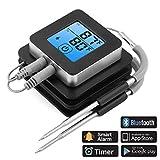 АЦТОПП термометар за ББК термометар за печење на жару КСНУМКС сонде термометар за сонду температуру предподешене Аларм ИОС Андроид магнетни дизајн за кување роштиља шницла