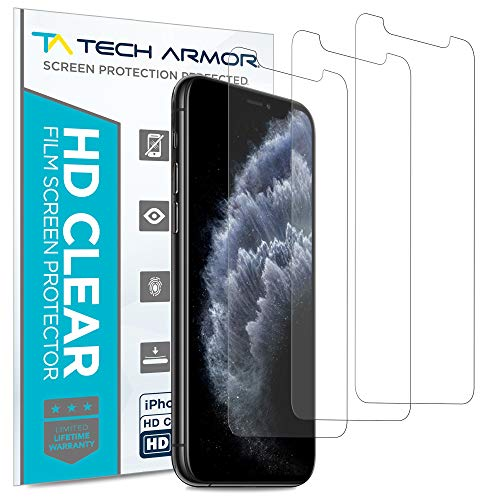 Tech Armor HD Clear Film Screen Protector for New 2019 Apple iPhone 11 Pro/iPhone X/iPhone Xs - Case-Friendly, Scratch Resistant, 3D Touch Accurate [3-Pack]