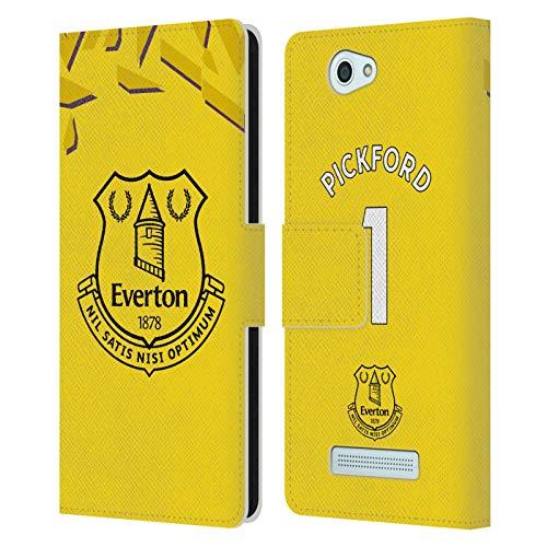Head Case Designs Offizielle Everton Football Club Jordan Pickford 2019/20 Spieler Home KIT Gruppe 1 Leder Brieftaschen Huelle kompatibel mit Wileyfox Spark/Plus