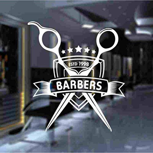 Muursticker Man Barber Shop Sticker op maat gesneden brood Decal kapsel scheerapparaten Posters Vinyl Wall Art Decals Decor Windows Decoratie 58X66Cm