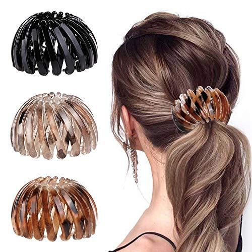 3 Stück Haarspangen für Damen, Vintage Vogelnest Haarklammern Große Haarclips Haargreifer Haar Accessoire Haarschmuck für Mädchen Damen