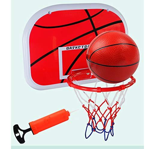Kinder Basketballkorb, Indoor Mini Basketball Set Wandmontage mit Netzball und Pumpe für Kinder Tragbares Indoor Outdoor Sportspielzeug,B