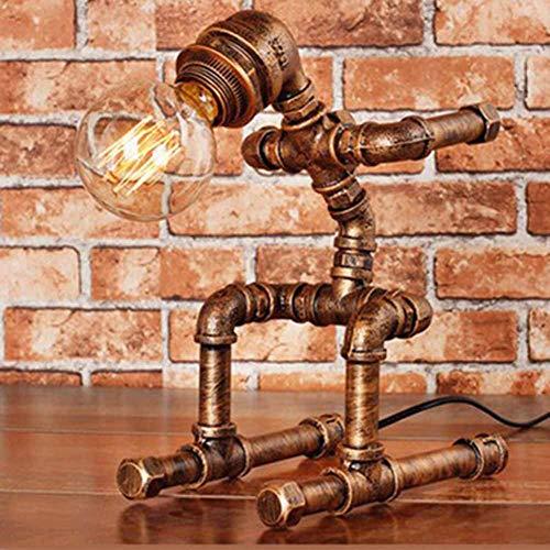 Tafellamp Steampunk rustieke waterpijp nachtkastje bureaulamp voor huis waterpijp bureau lampen voor bar club slaapkamer woonkamer hotel koffie winkel