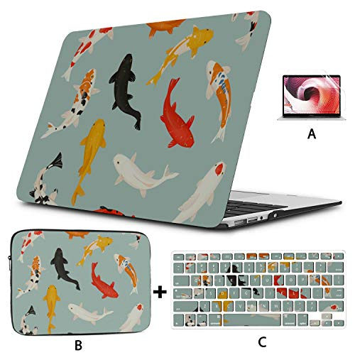 Laptop MacBook Pro Brightly Colored Goldfish MacBook Shell Hard Shell Mac Air 11'/13' Pro 13'/15'/16' with Notebook Sleeve Bag for MacBook 2008-2020 Version