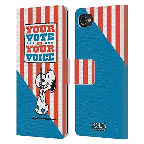 Head Case Designs Licenciado Oficialmente Peanuts Cartel de Snoopy Tu Voto es tu Voz Carcasa de Cuero Tipo Libro Compatible con Blackberry Motion