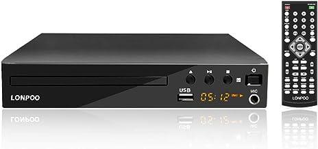 LONPOO Lecteur DVD Compact 1- 6 Multi-Régions Free, Sortie HDMI / AV, Entrée USB &..