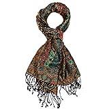Lorenzo Cana - Bufanda para hombre de seda y lana, 70 x 190 cm, diseño de cachemira, tejido 7811811