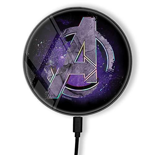 Cargador inductivo Original y Oficial de Marvel, estación de Carga inalámbrica para teléfono o Tableta, estación de Carga, Carga inalámbrica, impresión, USB, 2 A, 10 W