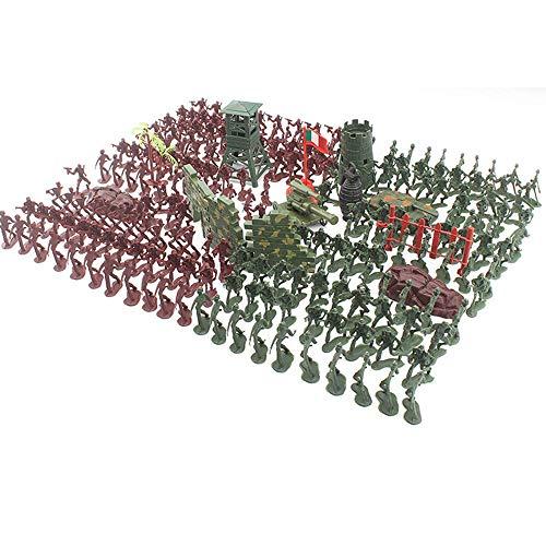 APcjerp De la Segunda Guerra Mundial Soldado Juguetes Set Mochila Bolsa de niños Soldados plásticos de niños Juguetes Cuerpo Militar 238 Piezas 4cm Hslywan