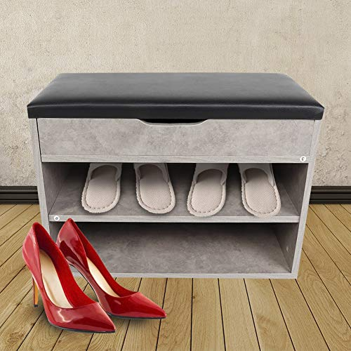 Zapato Gabinete con Asientos, con Mdf y PU Almacenamiento Gabinete Zapato Gabinete Características Claro Ventana por Guardarropa