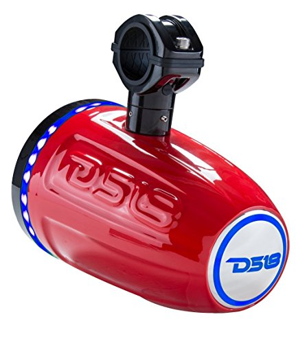 """DS18 NXL6TPR 6.5 Inch Red Marine 6.5"""" Hydro 2-Way Wakeboard Tower Speaker"""