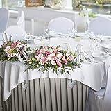 Relaxdays 8er Set Tischdeckenbeschwerer, Tischtuchbommeln zum Beschweren, Blume, In-& Outdoor, Edelstahl, Silber, 8 Stück - 3