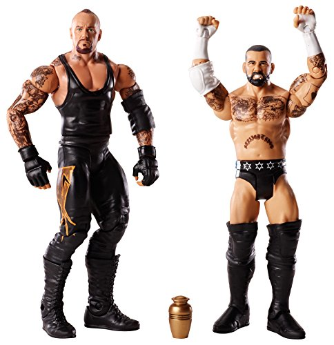 Figur WWE Undertaker mit URNE & CM Punk Battlepack Serie 25