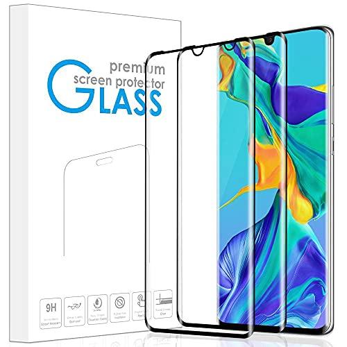 REROXE Panzerglas Schutzfolie kompatibel mit Huawei P30 Pro, [2 Stück] Volle Bedeckung HD Klar Blasenfrei Displayschutzfolie für Huawei P30 Pro