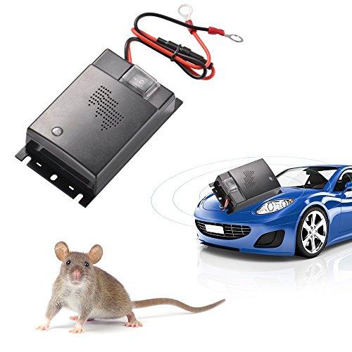 ZXX Appareil à ultrason anti-Souris pour Auto, Ultrasonique Economie d énergie Unité de défense de Rongeur, Répulsifs anti-fouine pour automobile voiture