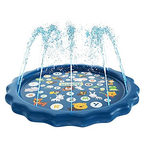 170 cm Juegos de césped de PVC Pad Play Colchoneta de Agua Piscina Summer Pat Juego Familiar Spray Inflable Cojín de Agua Jardín