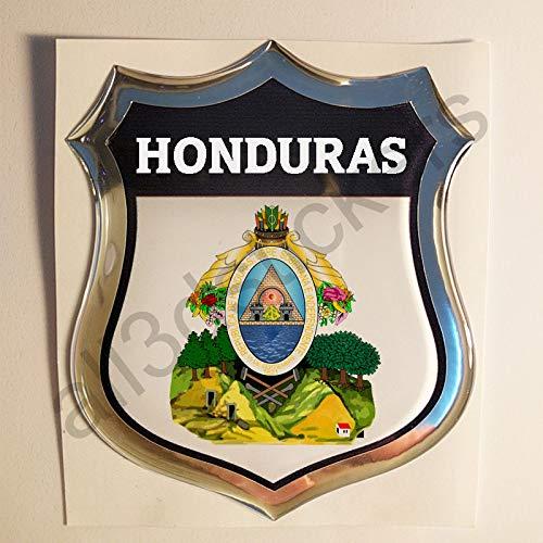 All3dstickers Pegatina Escudo de Armas Honduras Relieve 3D Emblema Honduras Resina Adhesivo Vinilo