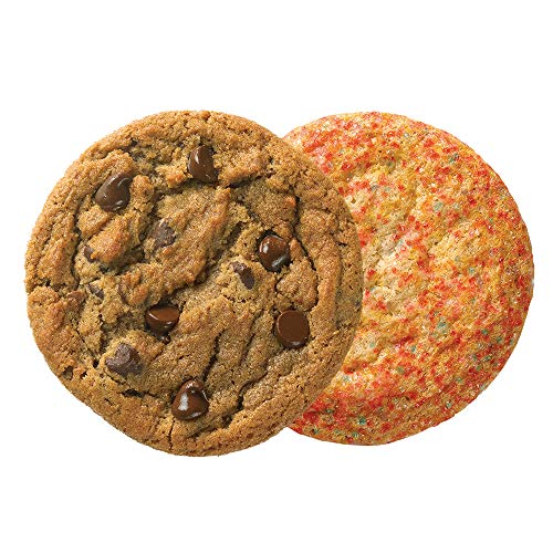 Great American Cookies - 12 Fresh Baked Sugar and Chocolate Chip Cookies - Baked Daily, Hand Scooped and Never Frozen - Great for birthday, graduation, parties, or Father's Day gifts