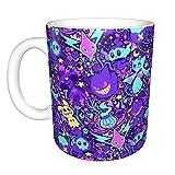 Pokemon Lavanda Divertida Taza de café Taza de té de café único Festival regalo de cumpleaños para hombres y mujeres 11...