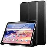 ZtotopCase Funda para Huawei MediaPad T5 10, Ultrafino Ligero Soporte Trifold Smart Carcasa Cover de Cuero PU con Soporte Función, para Huawei MediaPad T5 10 10.1 Pulgadas 2018 Tableta, Negro …