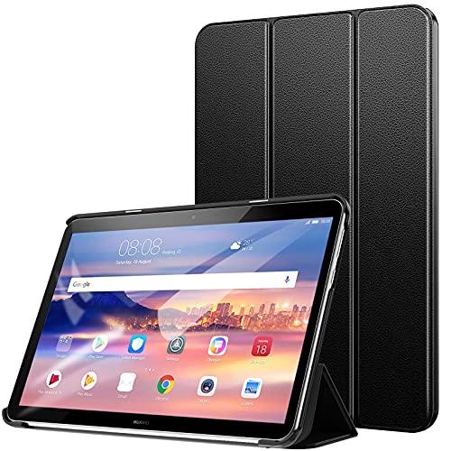 ZtotopCase Custodia per Huawei MediaPad T5 10, Ultra Slim Leggero Supporto a Trifold Smart Cover in Pelle PU, per Huawei Mediapad T5 10.1 Pollici 2018 Tavoletta, Nero …