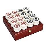 Hammer Xiang Qi portátil tradicional de madera plegable ajedrez chino del juego del inspector, tablero de ajedrez de madera plegable, Acrílico piezas de ajedrez, láser letras textura superficial Claro