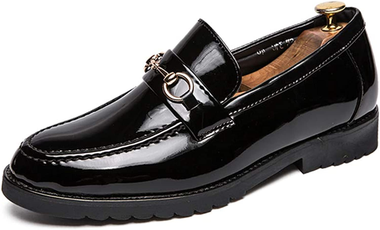 Herrenmode Oxford Casual Classic Britischen Stil Metall Dekorative Lackleder Lackleder Lackleder Formelle Schuhe,Grille Schuhe (Farbe   Schwarz, Größe   43 EU)  4cdbba