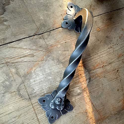 Antikas - Tirador rústico de hierro forjado para puertas
