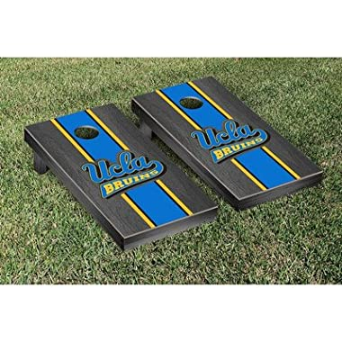 Victory Tailgate California Los Angeles UCLA Bruins Regulation Cornhole Game Set Rosewood Stained Stripe Version