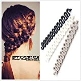 3Pieces Black+Grey+White Women Hair Styling