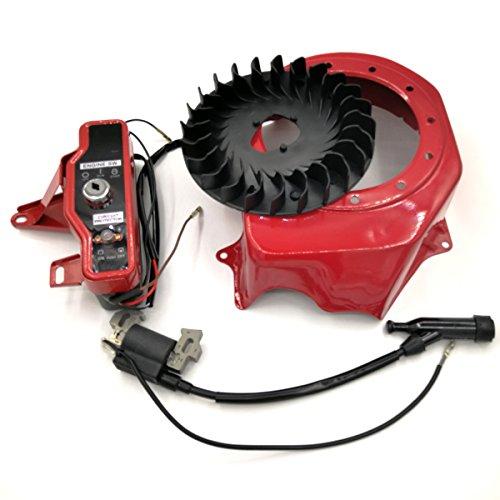 Shioshen Interrupteur Start ventilateur de refroidissement et couverture kit de bobine d'allumage pour Honda GX160 GX200 168 F 2–3 kW Moteur Générateur de pompe à eau