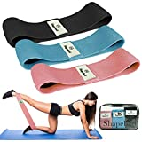 Shape Bod Fabric Resistance Band Set of 3 Bands for Exercising Your Hip, Booty, Legs - Ideal for...
