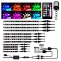 12Pcs Motorcycle LED Light Kit Strips, Atmosphere LED Lighting Strip, RGB Multicolor Accent Glow Neon Lights Lamp with Dual IR/RF Remote Controller for Harley Davidson Honda Kawasaki Suzuki