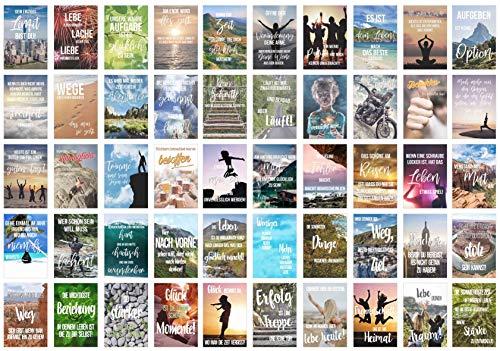 Edition Seidel Set 50 Postkarten Leben & Momente mit Sprüchen - Karten mit Spruch - Geschenk - Dekoidee, Freundschaft, Leben, Motivation, Geburtstagskarten