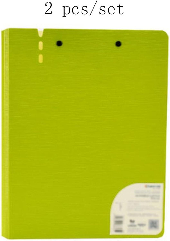 Liu Yu·Bürofläche, Büro Schreibwaren PP grün Doppel-Clip Doppel-Clip Doppel-Clip A4 Ordner Multifunktions-Informations-Clip 2 Stück   Set B06XR9FMHN | Das hochwertigste Material  18d5c0