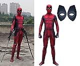 HEROMEN Deadpool Cosplay Spandex Jumpsuit Party Dress Lycra Tights Halloween Navidad para Niños Adultos - Prin 3D,Red-Child/L