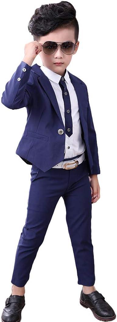 LOLANTA Conjunto de 3 trajes formales para niños con esmoquin ...
